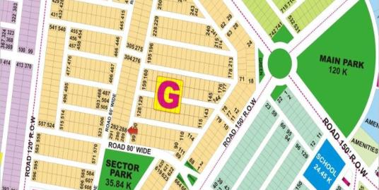 DHA Lahore Plot for Sale Phase 9 Prism Sector G 1 Kanal # 288