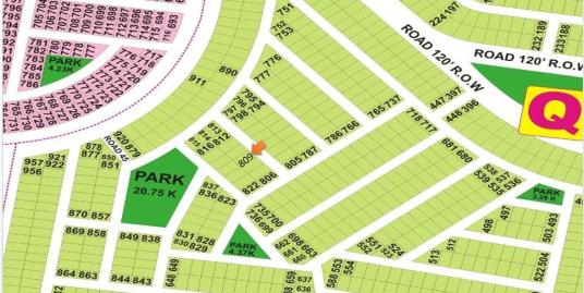 DHA Lahore Plot for Sale Phase 9 Prism Sector Q 1 Kanal # 809