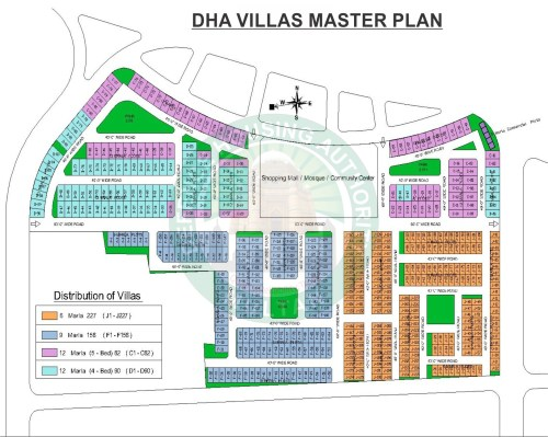 DHA Multan Villas Map