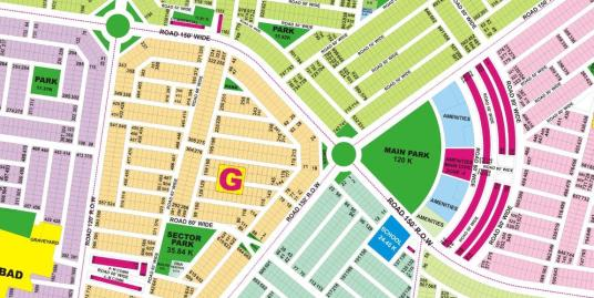 DHA Lahore Plot for Sale Phase 9 Prism Sector G 1 Kanal # 118