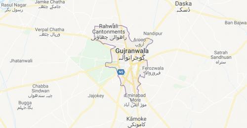 Gujranwala Maps