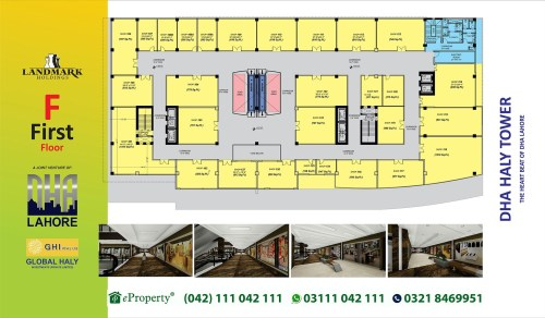 DHA Haly Tower 1st Floor Layout Plan