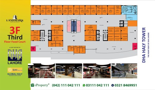 DHA Haly Tower 3rd Floor Layout Plan