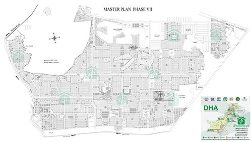 DHA Lahore Phase 7 Map