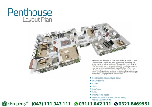 Downtown Mall and Residences Penthouse Layout Plan