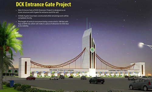 DHA City Karachi Entrance Gate