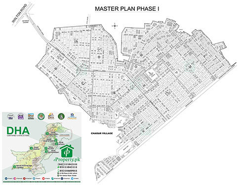 DHA Lahore Phase 1 Map