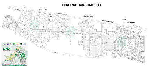 DHA Lahore Phase 11 Sector 1 Map