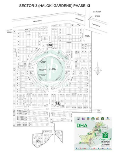 DHA Lahore Phase 11 Sector 3 Map