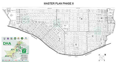 DHA Lahore Phase 2 Map