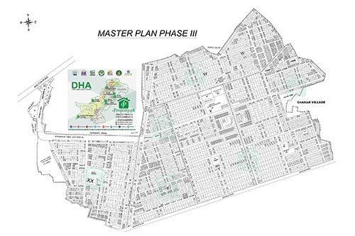 DHA Lahore Phase 3 Map
