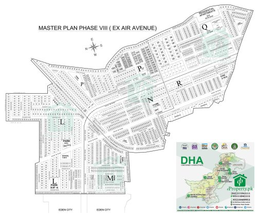 DHA Lahore Phase 8 Air Avenue Map