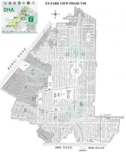 DHA Lahore Phase 8 Park View Map