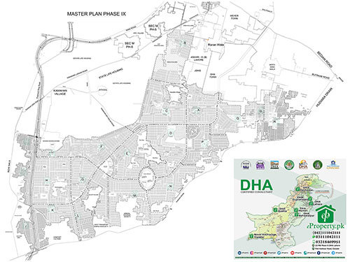 DHA Lahore Phase 9 Prism Map