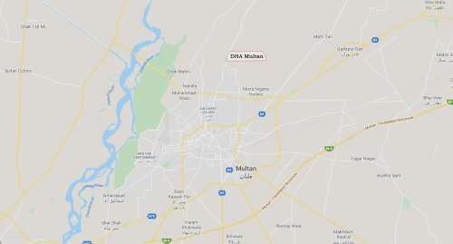 DHA Multan Location Map