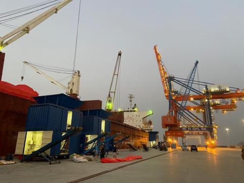 1st Cargo Ship berths at Gwadar carrying 16000 MT Urea