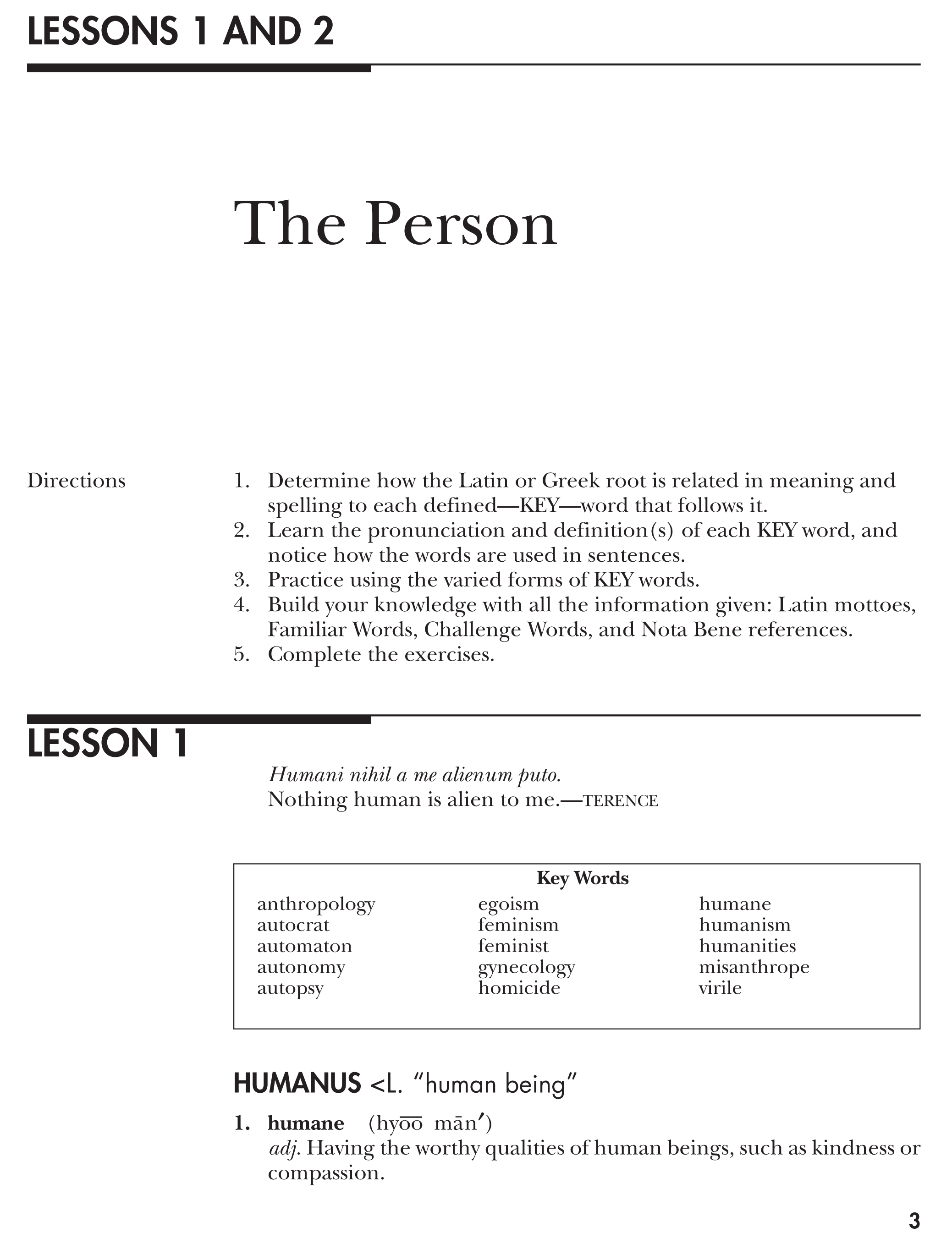 Vocabulary From Classical Roots Student Book C