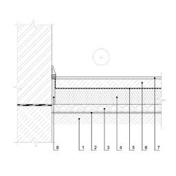 Grindų, esančių virš grunto jungties su išorine siena, šiltinimas, epsa.lt, PPA