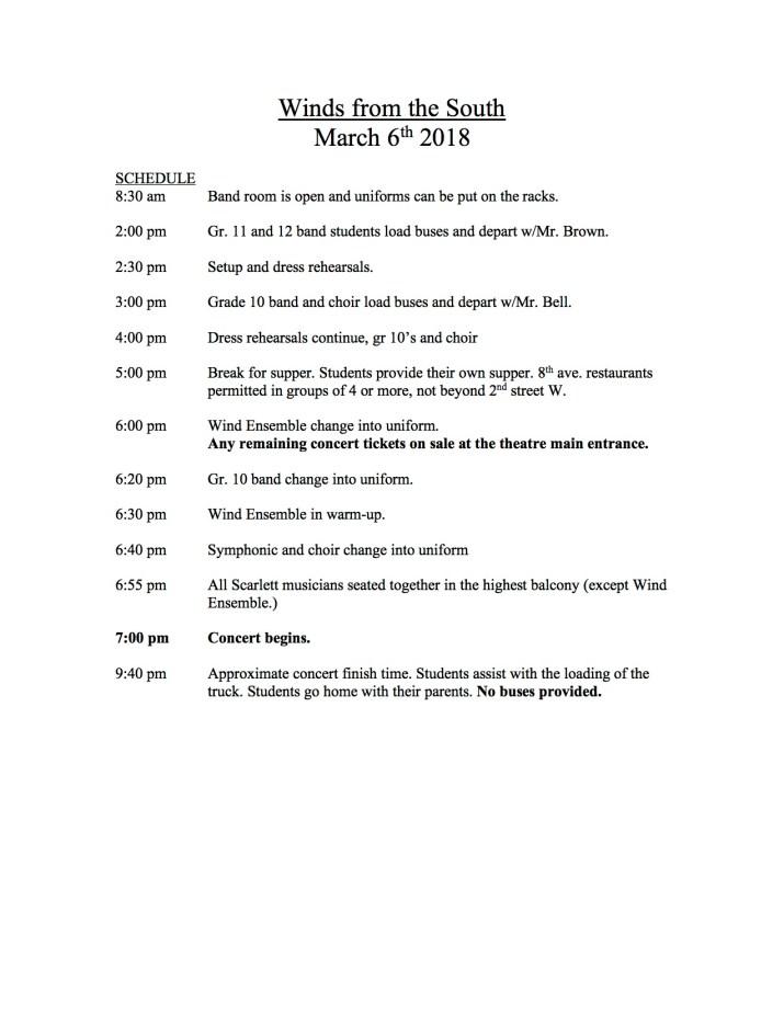 WFTS Schedule