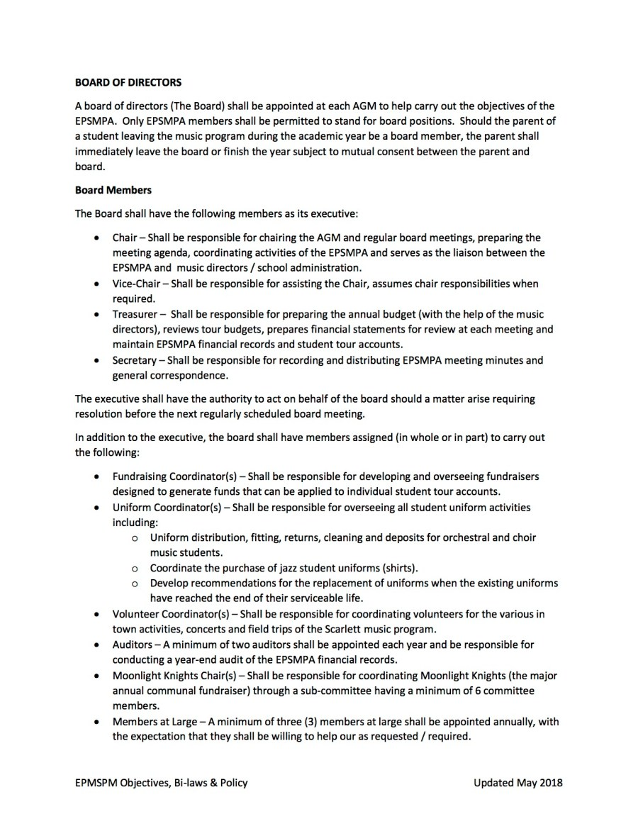EPSMPA Policy Document - May 2018 page 2