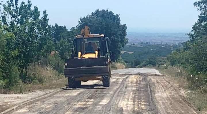 Εξοχή Πιερίας – Αυτοψία της αντιπεριφερειάρχη σε έργα αποκατάστασης δρόμου