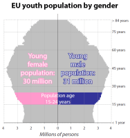 Youth population by gender