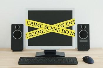 Computer under crime investigation