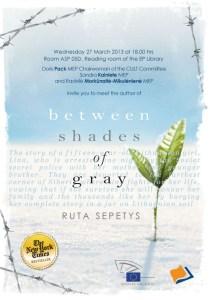 Invitation Ruta Sepetys