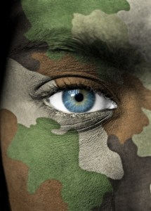 An eye of a soldier