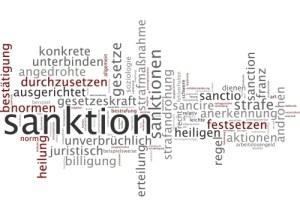 Sanctions word cloud