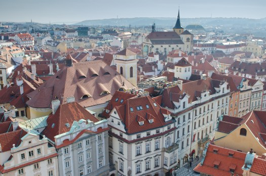 The roofs of the Prague Old city,
