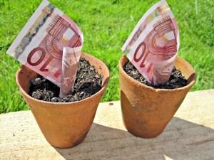 Euros on pots