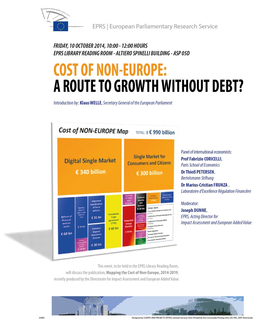Panel Discussion on 'Cost of Non-Europe: A Route to Growth without Debt?'