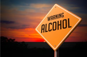 Warning alcohol sign