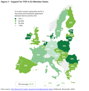 Support for TTIP in EU Member States