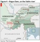 Rogun Dam, on the Vakhs river