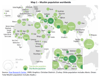 Muslim population worldwide