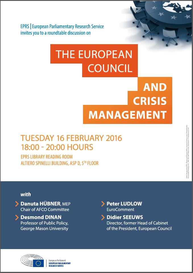 European Council and crisis management