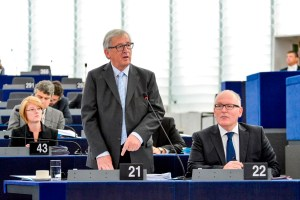 Jean-Claude Juncker in the European Parliament