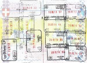 Immigration stamps of Schengen countries