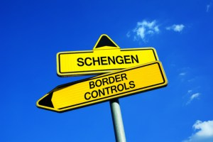 Schengen and border controls sign