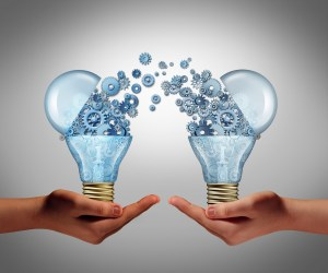 Ideas coming from a lightbulb