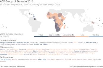 ACP Group of States in 2016 (all of them are parties to the Cotonou Agreement, except Cuba)