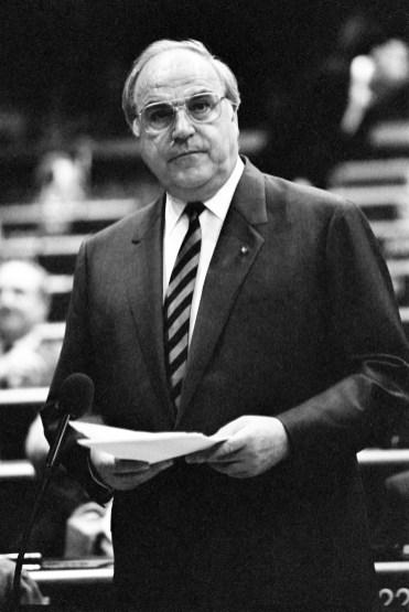 Helmut KOHL in the European Parliament in Strasbourg