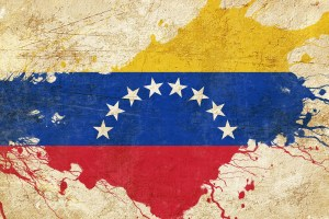 Venezuela flag with some soft highlights and folds