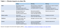 Climate impacts on urban life