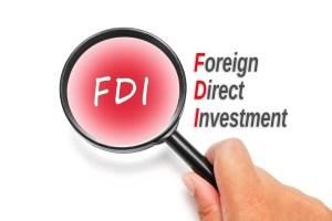 FDI, acronyms business concept