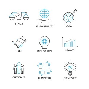 Icons on ethics and innovation
