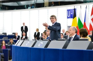 Election of the President of the Parliament - David-Maria SASSOLI, newly elected EP President