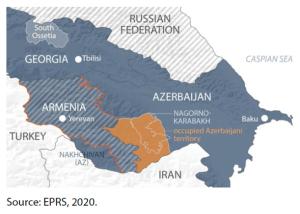 Map – Armenia, Azerbaijan, Nagorno-Karabakh